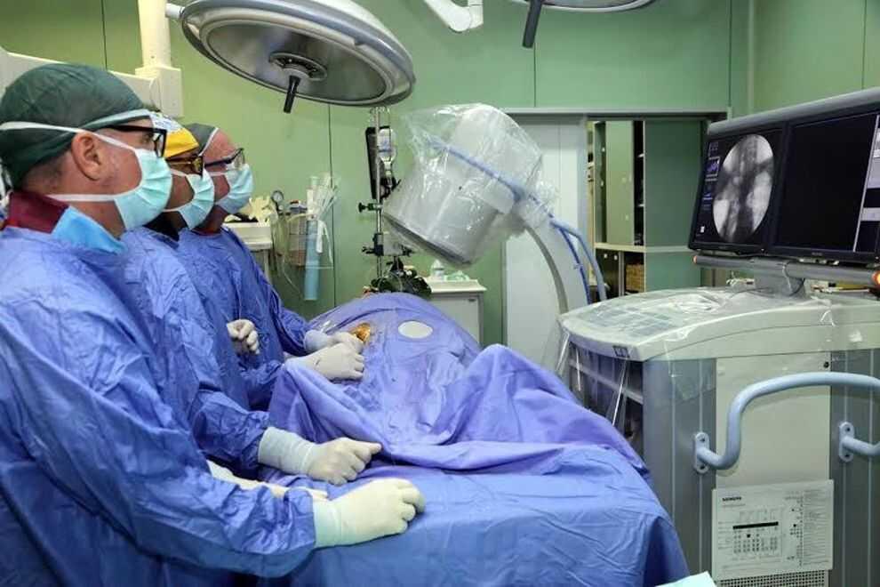 Paziente operato per la prima volta in