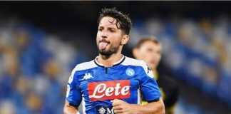 Napoli Inter Mertens esulta